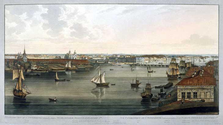 Панорма Питера, начало 19 века