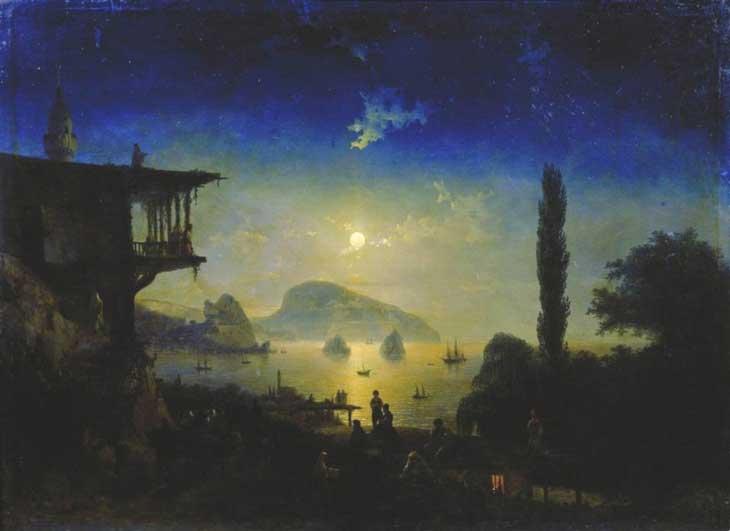 """Картина """"Ночь в Крыму"""", Гурзуф 1839 год"""