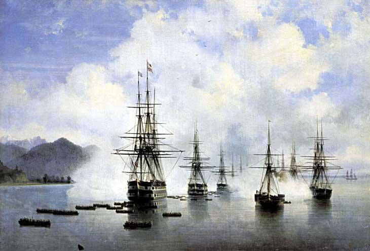 "Картина ""Десант в Субаши"", 1839 год"
