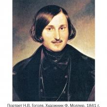 Гоголь, работа Моллера