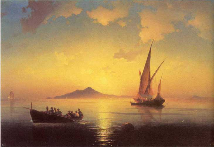 "Картина ""Неаполитанский залив"", 1841 год"