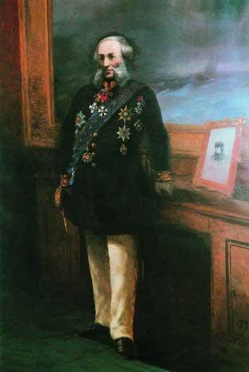 Автопортрет в мундире, Айвазовский 1892 год