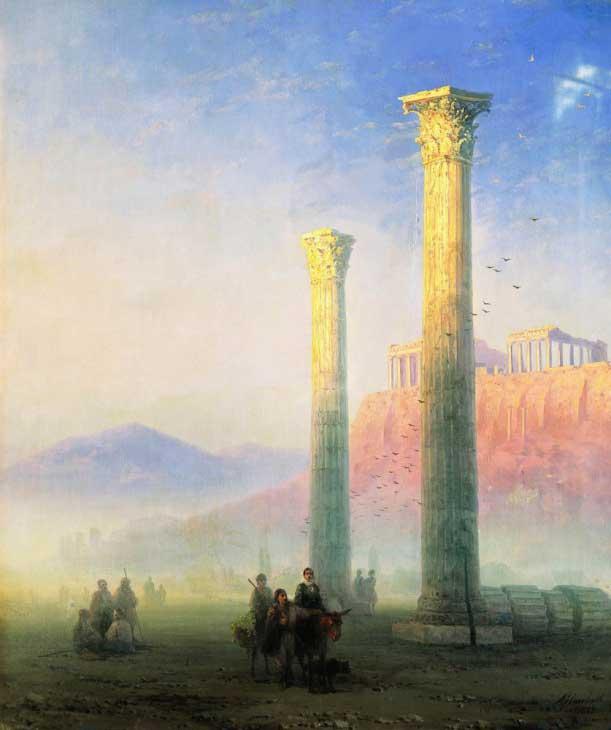 """Картина """"Афинский Акрополь"""", 1883 год"""