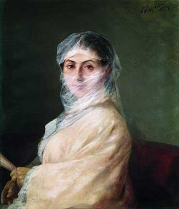 Портрет жены, 1882 год