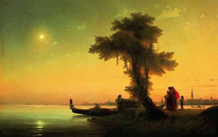 "Картина ""Вид на венецианскую лагуну"", 1841 год"