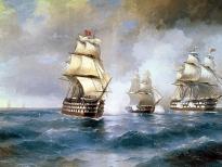 Бриг «Меркурий», атакованный двумя турецкими кораблями (1892)