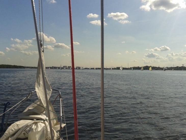 Яхты готовятся к старту, Кубок Федерации 23 августа 2014 г.