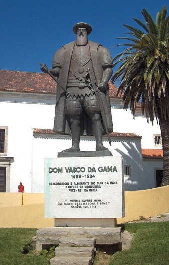 Памятник Васко да Гаме на его родине в г. Синеш