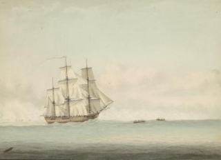 Первый корабль Кука Endeavour