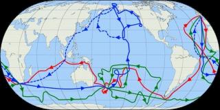 карта экспедиций Джеймса Кука