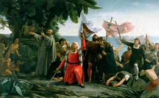 Вступление Колумба на землю Майя
