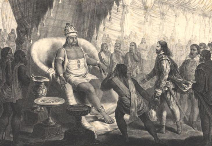 Аудиенция Васко да Гамы у заморина города Каликут