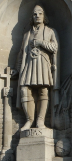 Статуя Бартоломеу Диаша, установленная на Трафальгарской площади в Лондоне