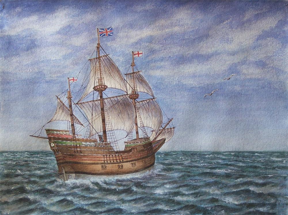 Mayflower корабль монета 10 копеек 2004 года цена