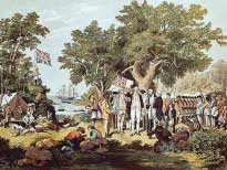 Картина о первом путешествии Джеймса Кука