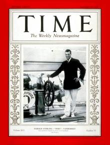 """Гарольд Вандерблид удостоился обложки """"Таймс"""" после победы в Кубке Америки 1930 года."""