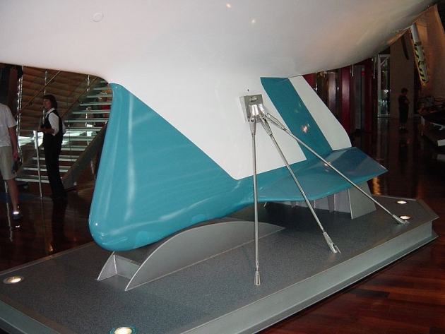 Киль новой конструкции, благодаря которому Australia II выиграла регату 1983 года.