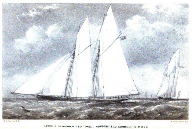 Livonia, второе английское судно, попытавшееся вернуть трофей в Англию в 1871 году. Безуспешно.
