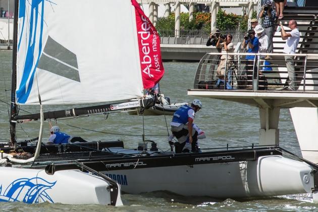 Extreme Sailing Series - лучшая регата для зрителей и фотографов. Здесь все очень близко!