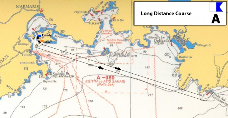 Пример маршрута офшорной гонки