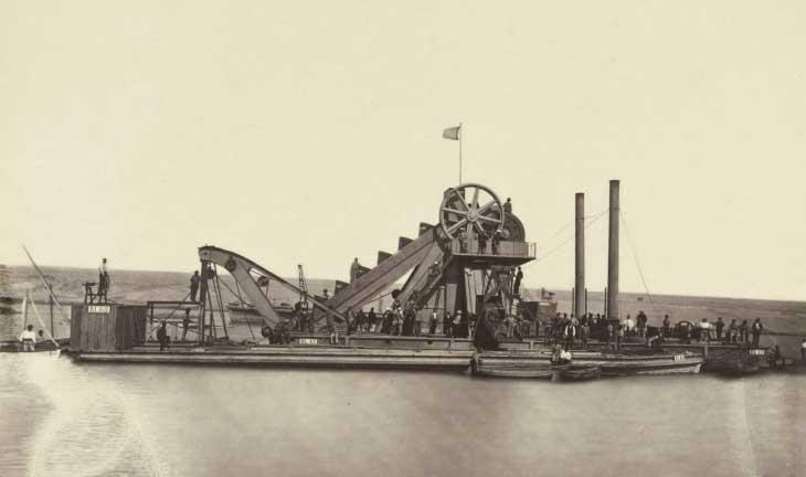 Экскаваторы использовались лишь на заключительном этапе постройки Суэцкого канала