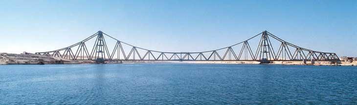 Железнодорожный мост Эль-Фердан, инфраструктура Суэцкого канала