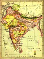 Британские владения в Индии в 19 веке