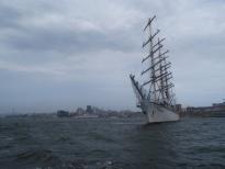 современный парусный корабль Надежда