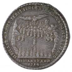 Памятная медаль в честь Гангутской битвы.