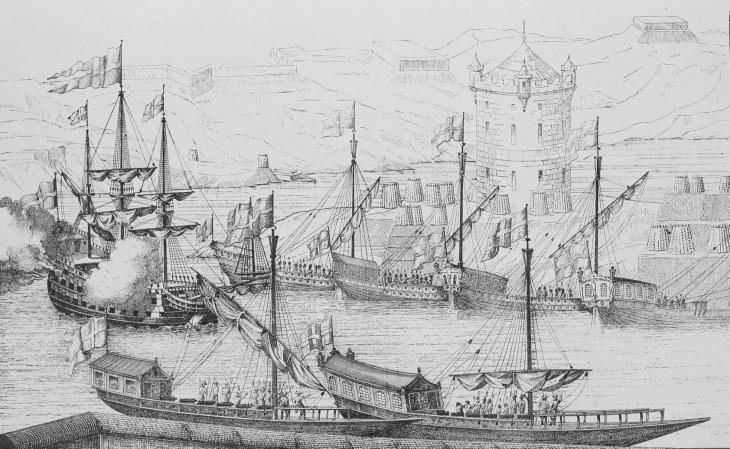 Взятие Азова, корабль Апостол Петр и русские галеры