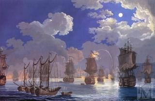 картина Чесменского сражения