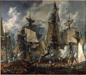 Корабль Густав III после Гогландского сражения