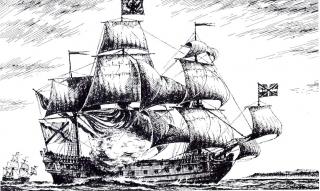 рисунок корабля Ингерманланд
