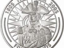 монета с Горацио Нельсоном
