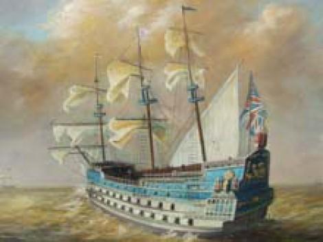 «Royal Sovereign» первый линейный британский корабль