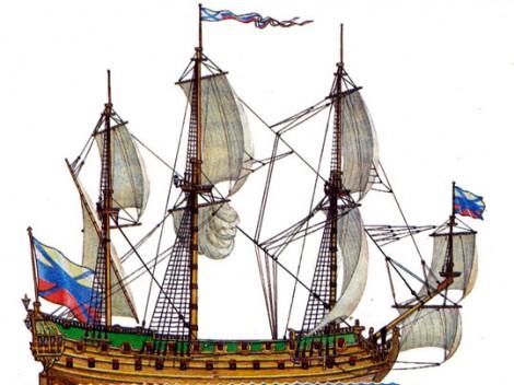 В России воссоздают линейный корабль Петра I «Гото Предестинация»