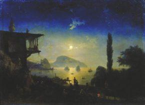 Картина Ночь в Крыму, Гурзуф 1839 год