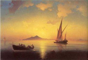 Картина Неаполитанский залив, 1841 год