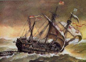 Картина магеллановского корабля Виктория
