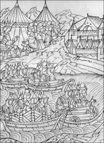 Иван Грозный использует суда при взятии Казани