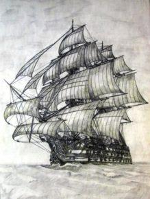 Рисунок корабля Santisima Trinidad
