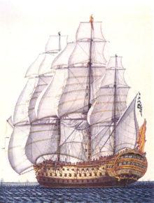 Картина корабля Сантисима-Тринидад