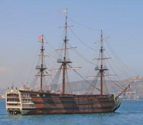 Модель Santisima Trinidad в гавани Аликанте