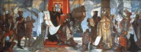 Прощание Васко да Гамы с королем Португалии Мануэлом