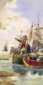 Высадка Васко да Гама у г. Каликут. 20 мая 1498