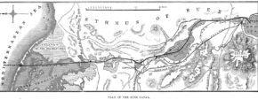 Карта Суэцкого канала и сопутствующих транспортных магистралей