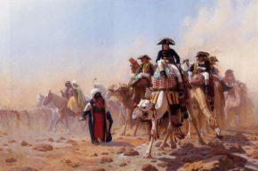Наполеон со своими генералами в Египте
