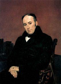 Жуковский, портрет работы Брюллова