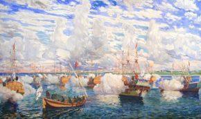 Потешная флотилия на Плещеевом озере