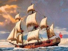 Корабль «Резолюшн» известного мореплавателя Джеймса Кука